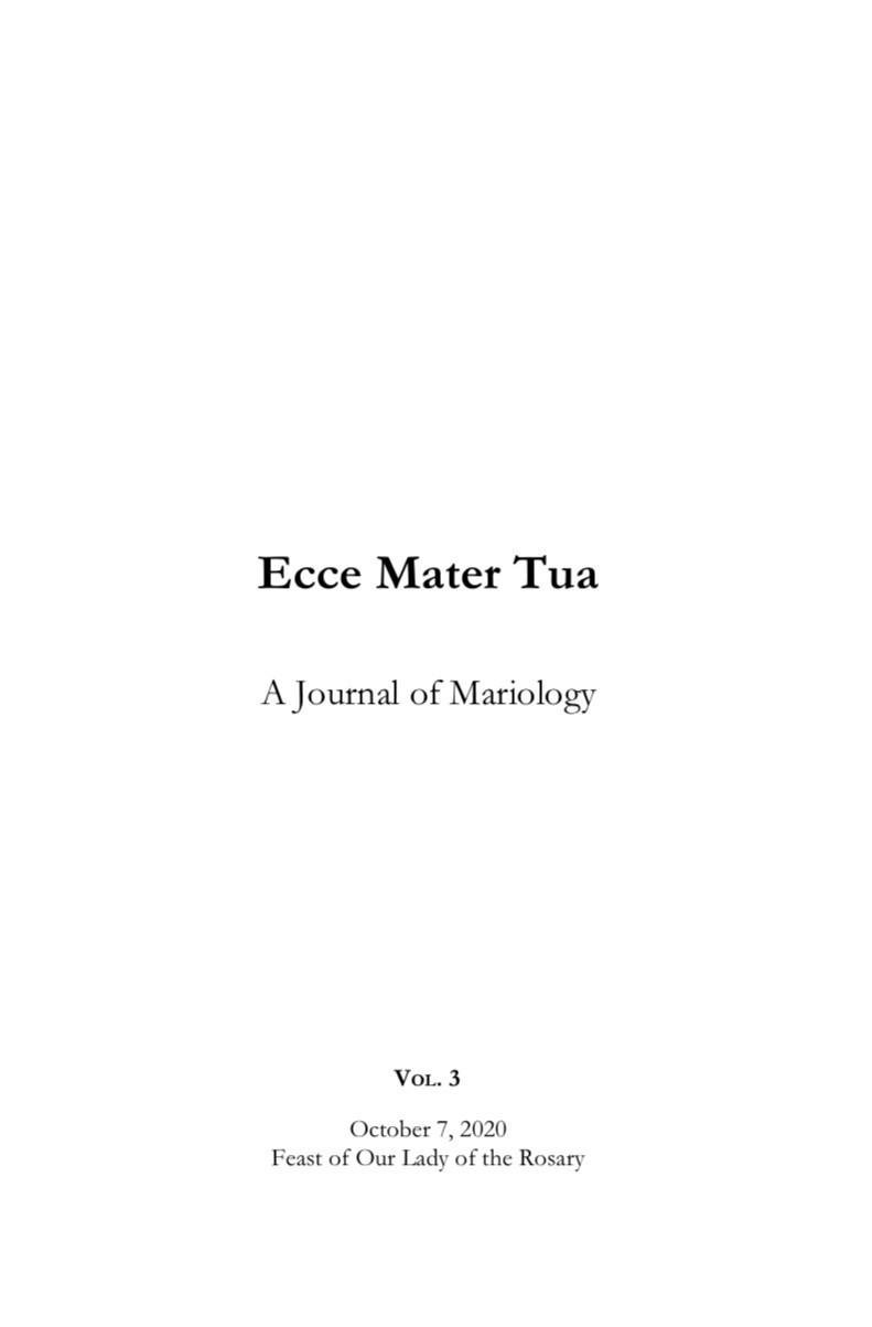 Ecce Mater Tua vol. 3